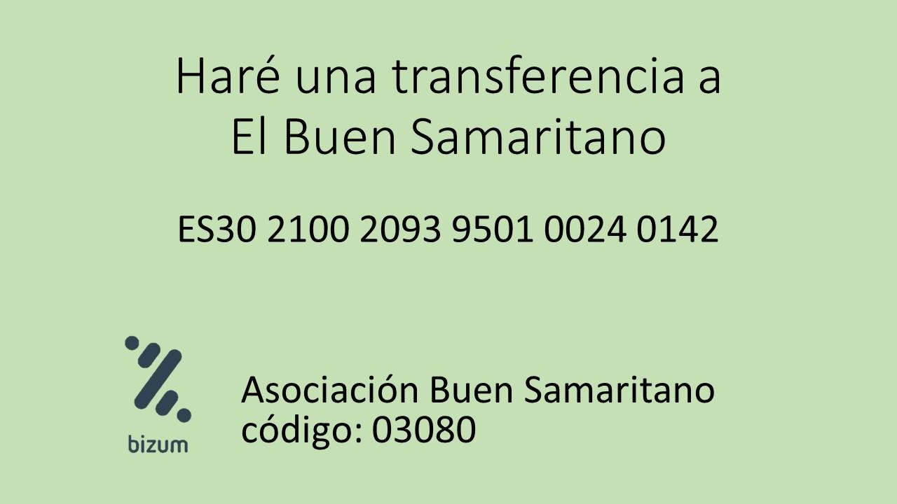 Hago una transferencia a ES30 2100 2093 9501 0024 0142