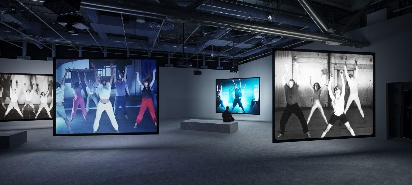 """Jeremy Shaw. """"Phase Shifting Index"""" Pariisis Pompidou keskuses. Foto: Timo Ohler. Jeremy Shaw & KÖNIG Galerie Berlin, London, Seoul loal"""