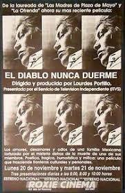 NO QUEDAN PLAZAS                         16 de diciembre 2019    EL DIABLO NUNCA DUERME        Lourdes Portillo/87`/México/1994