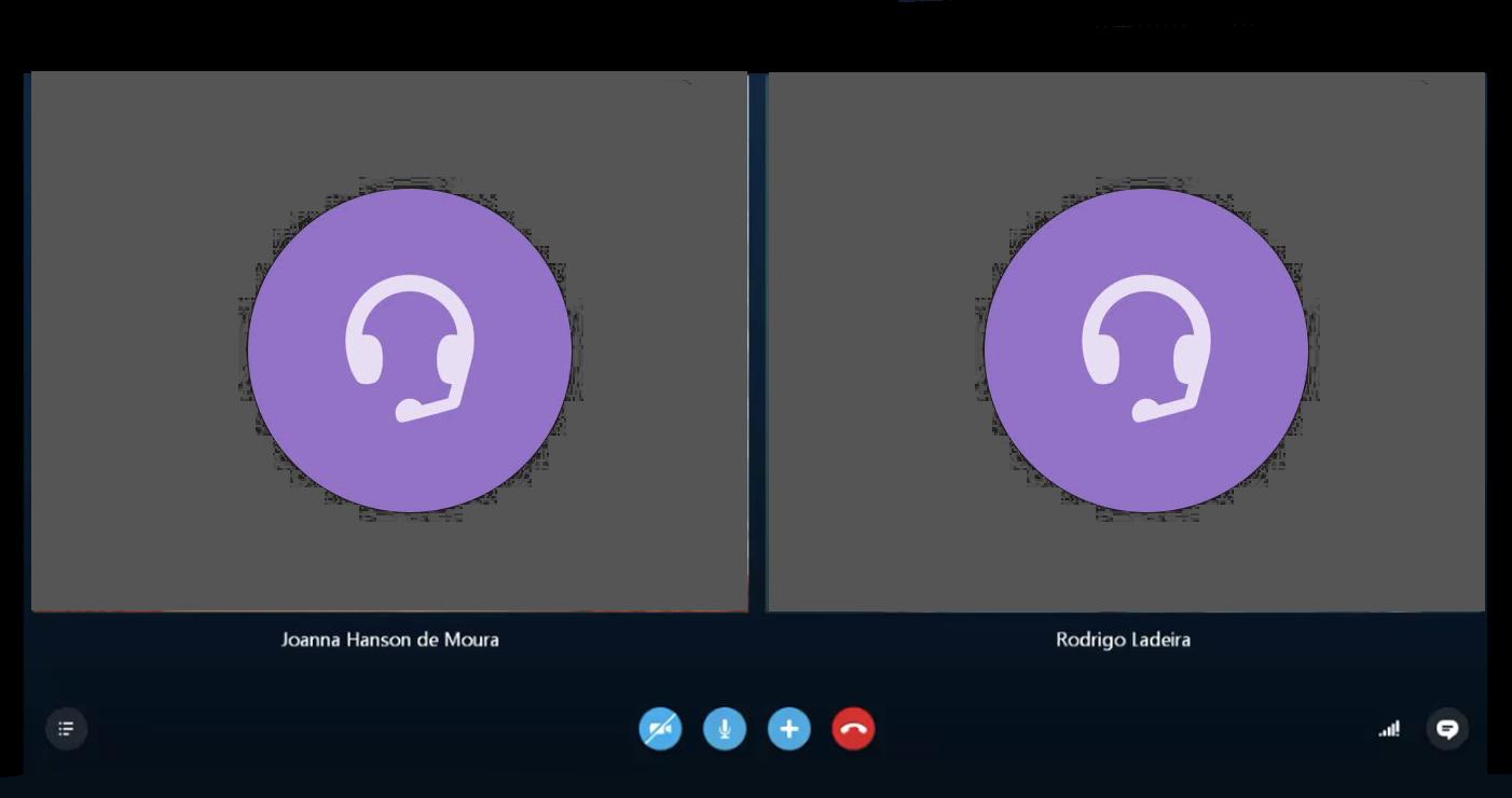 Skype audio call