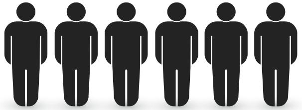 6 personen of meer