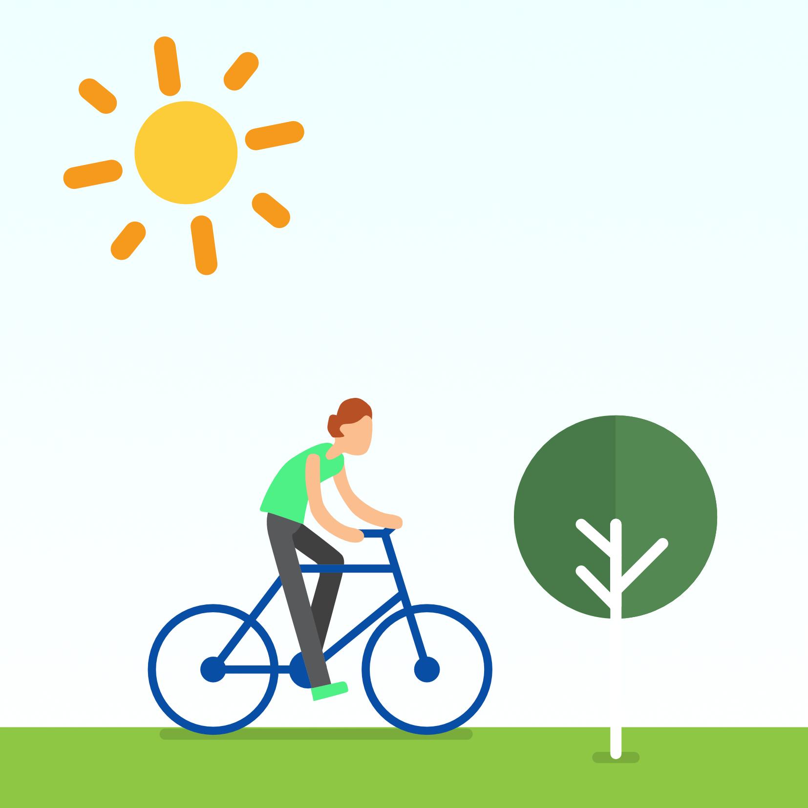 Met de fiets