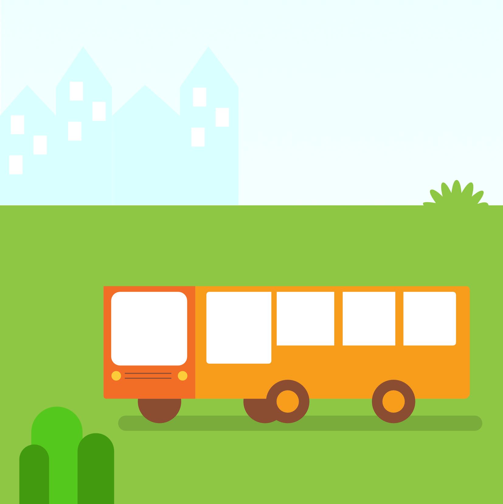 Met de bus