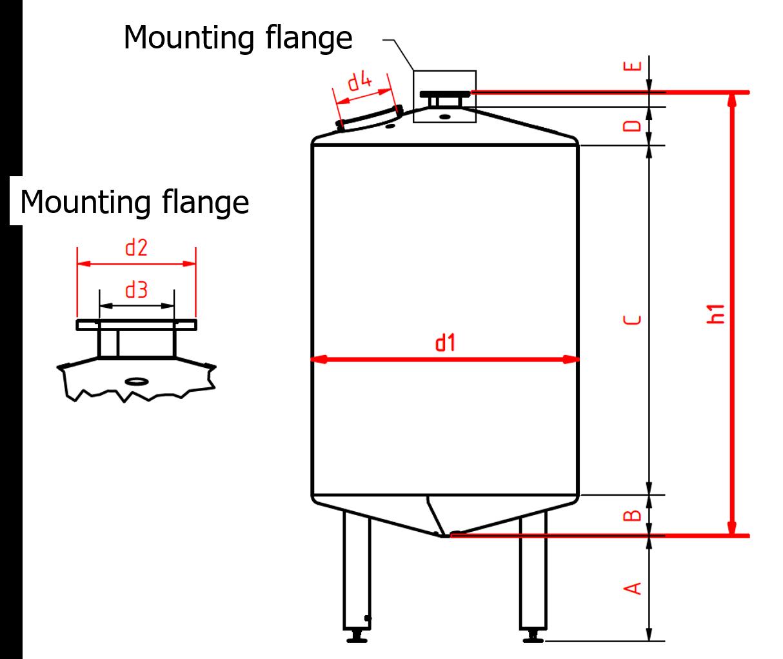 Vessel drawing tank agitator