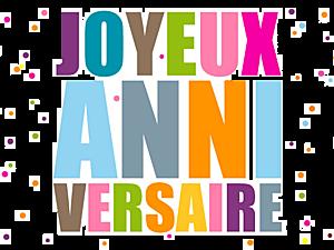 1.Joyeux anniversaire