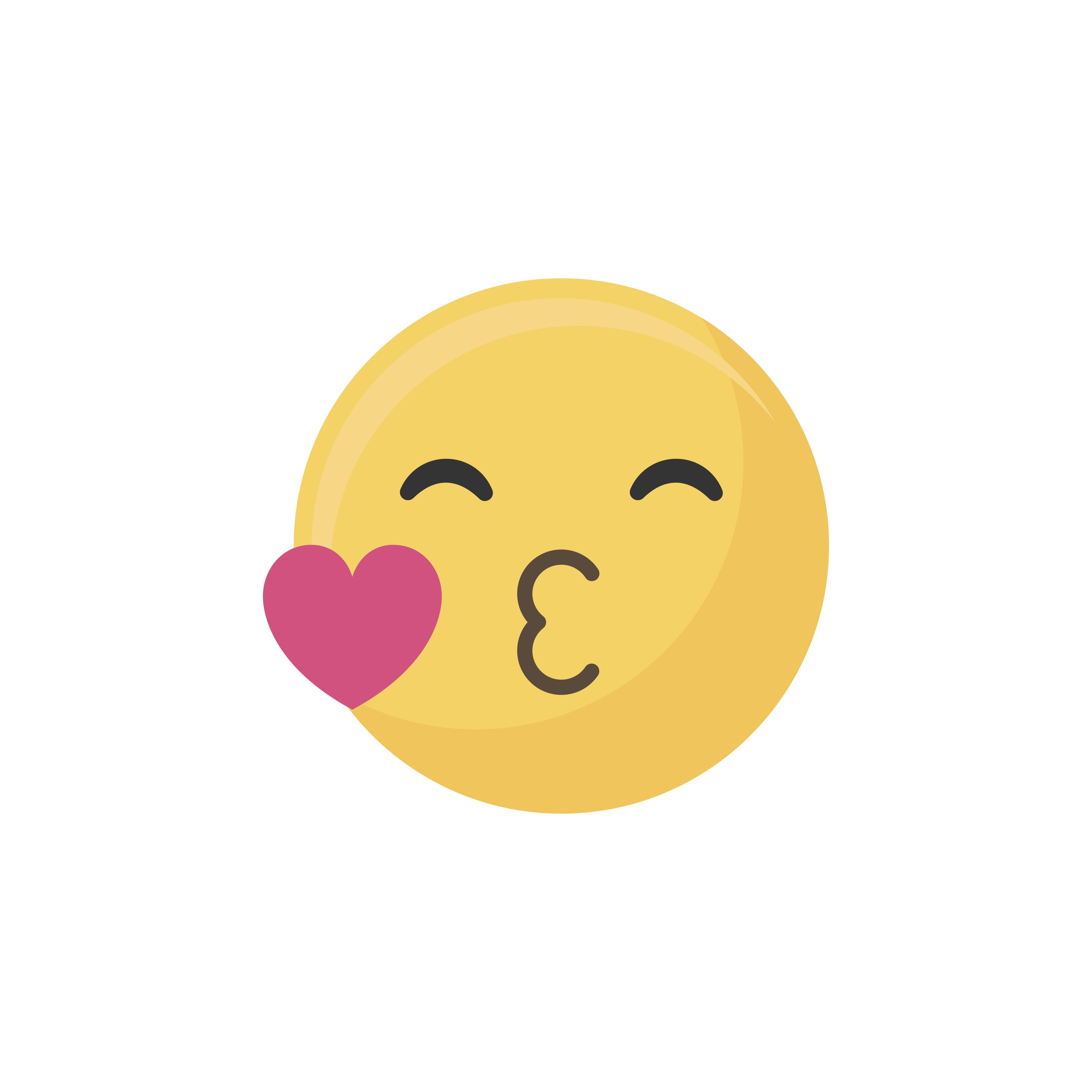 10. Emoticon KISS