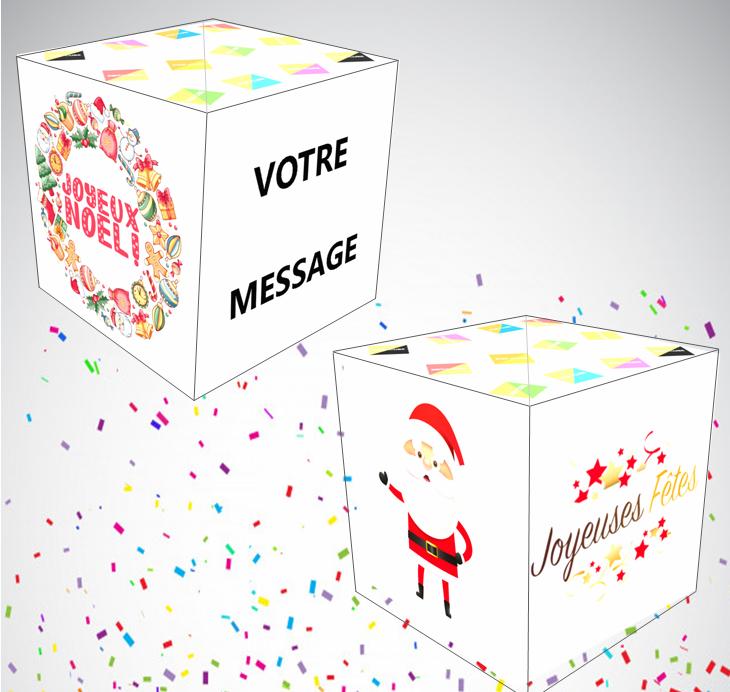 carte surprise joyeux noel