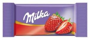 Carré de chocolatMilka FRAISE-[1.00€]