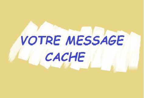 Message à gratter : pour découvrir  votre message le destinataire devra gratter (1,59€)