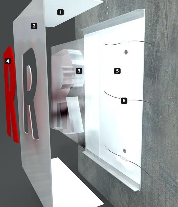 cBox - Flache Transparente und Pylone