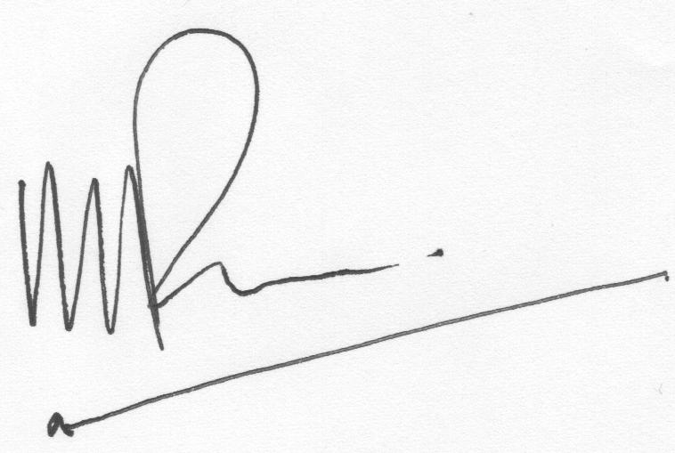 CHT Representative Signature