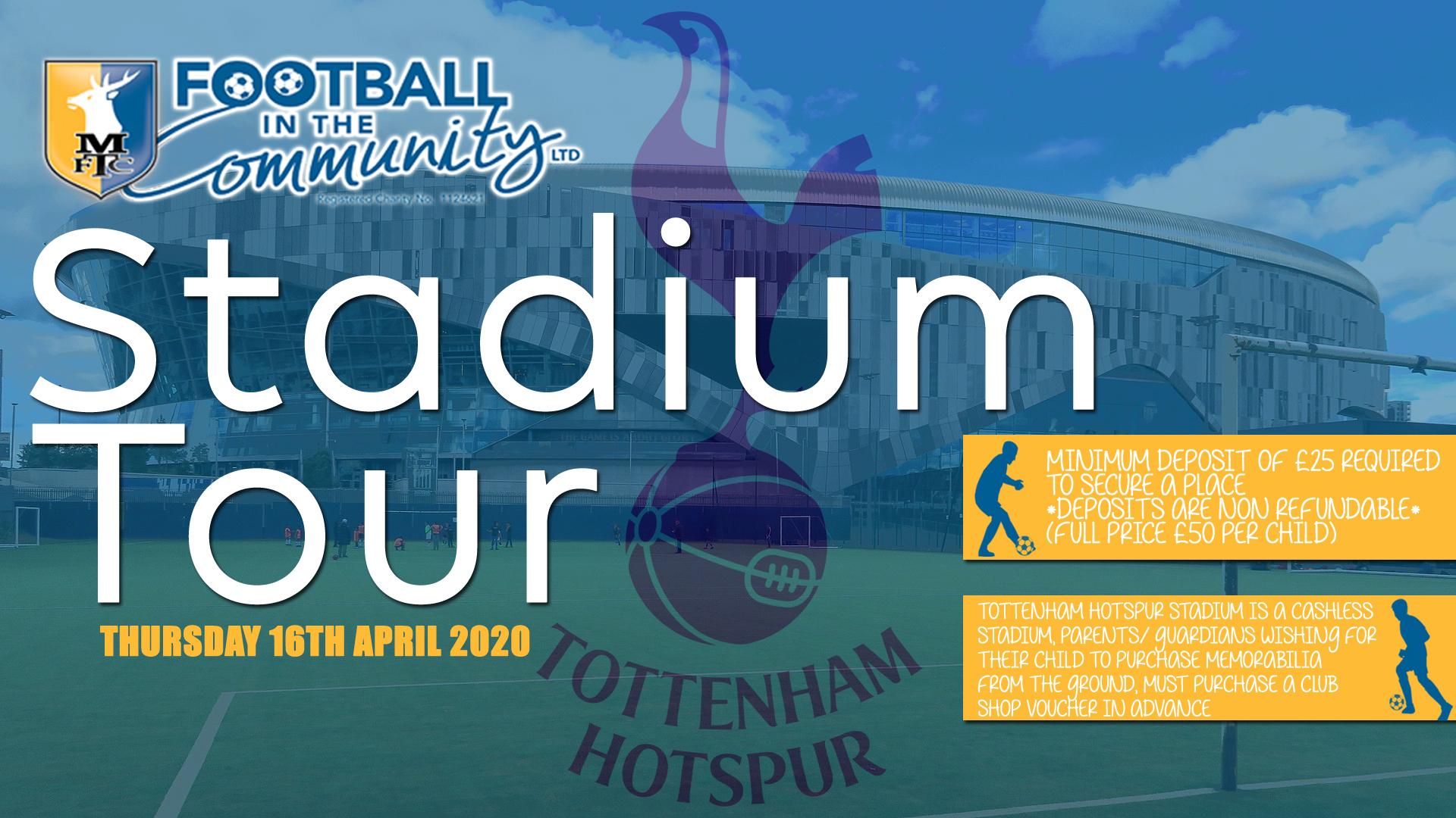 Spurs Stadium Tour   April 2020