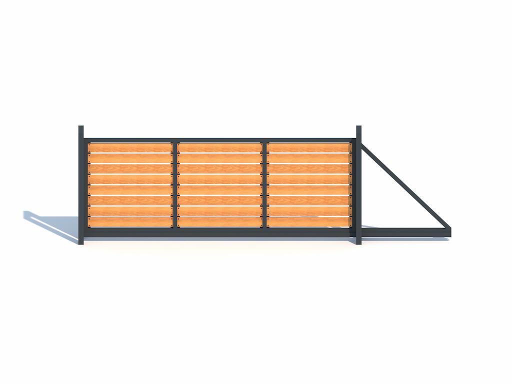 Modell H8 mit Holzplanken