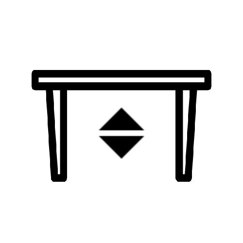 Tisch mit verstellbarem Fuß