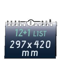 nástěnný kalendář A3 (420x297 mm)  270 Kč/ ks + DPH