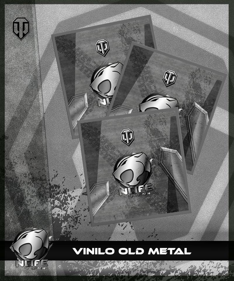 Pegatina Old Metal