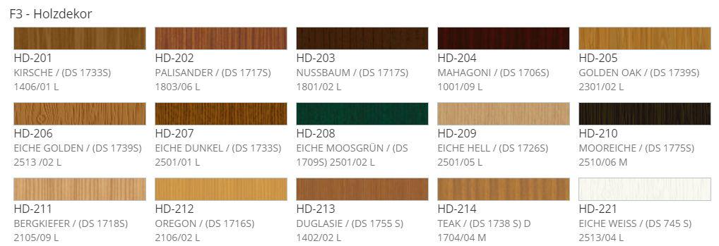 Holzdecor Farbe
