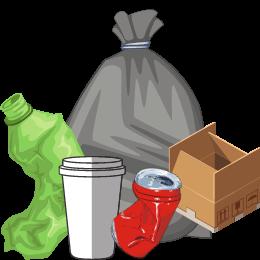 Grosse zone de déchets terrestres