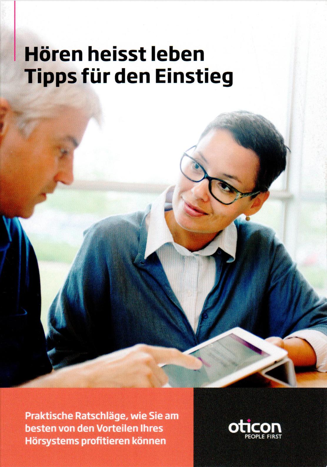 Broschüre: Hören heisst leben - Tipps für den Einstieg