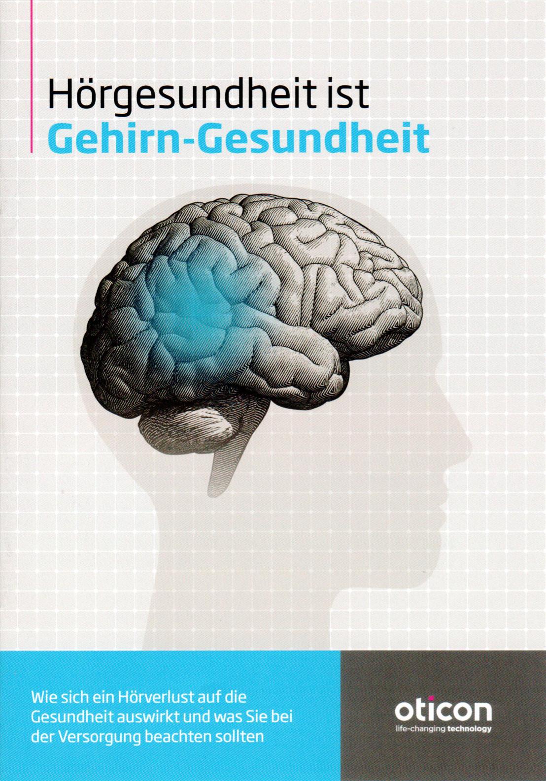 Broschüre: Hörgesundheit ist Gehirn-Gesundheit
