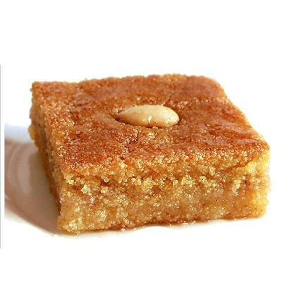 Kalb-louz (semoule imbibé de miel et manades)