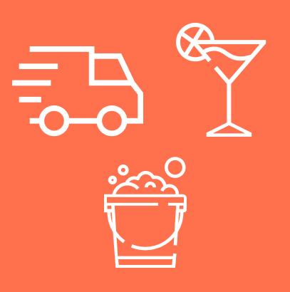 Consegna drink + Barman + Pulizie