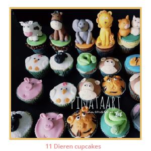11 Dieren cupcakes