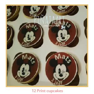 12 Print cupcakes (aantal + € 7,00)