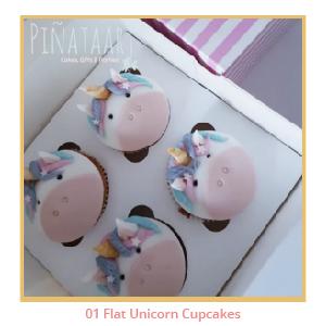 01 Flat Unicorn Cupcakes